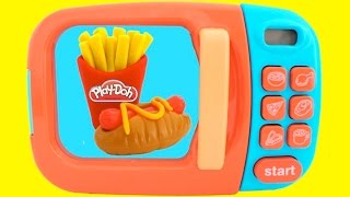 toy microwave playset play doh learn fruits vegetables with velcro toys for kids rl