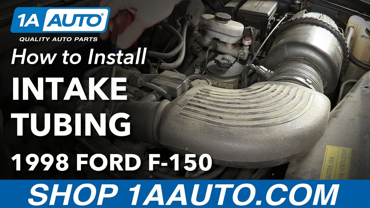 How To Replace Upper Intake Tubing 97 04 Ford F 150 Youtube