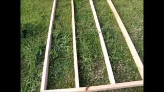 Off Grid Prepper Storage Shed/workshop Construction Part 3 - Framing And Siding