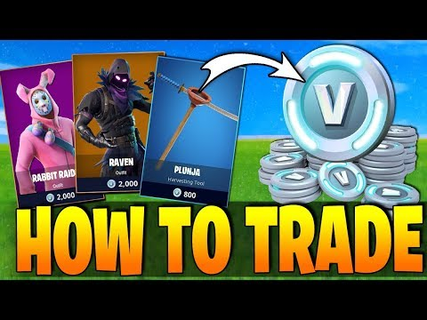 Fortnite - HOW TO TRADE ITEMS FOR V-BUCKS! - New Feature! (New Leaks & Latest News) v3.6.0