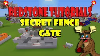 "Secret Fence Gate ""tutorial"" (minecraft Xbox)"