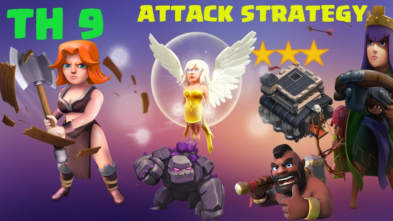 Download THE TROOPS WILL NEVER LOSE | TH9 VALKYRIE ATTACK STRATEGY | CLASH OF CLANS |