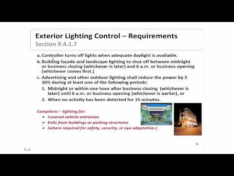 ASHRAE Standard 90.1 2010, Part V-- Lighting Provisions