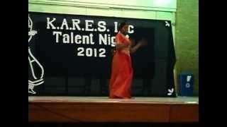 KARES Talent Show 2012 Cierra- Chamakti Shaam Hai