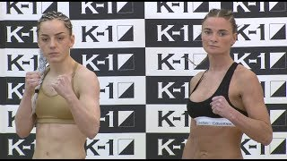 Josefine Knutsson vs. Mellony Geugjes - Weigh-in Face-Off - (K-1 WORLD GP 2019 JAPAN) - /r/WMMA