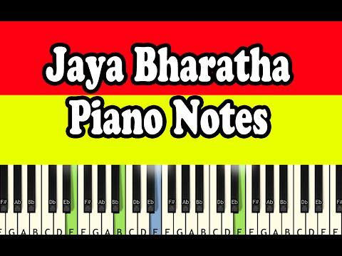 Jayabharatha Jananiya - Piano Notes - Music Sheet
