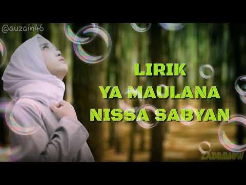 Ya Maulana Nissa Sabyan Lirik