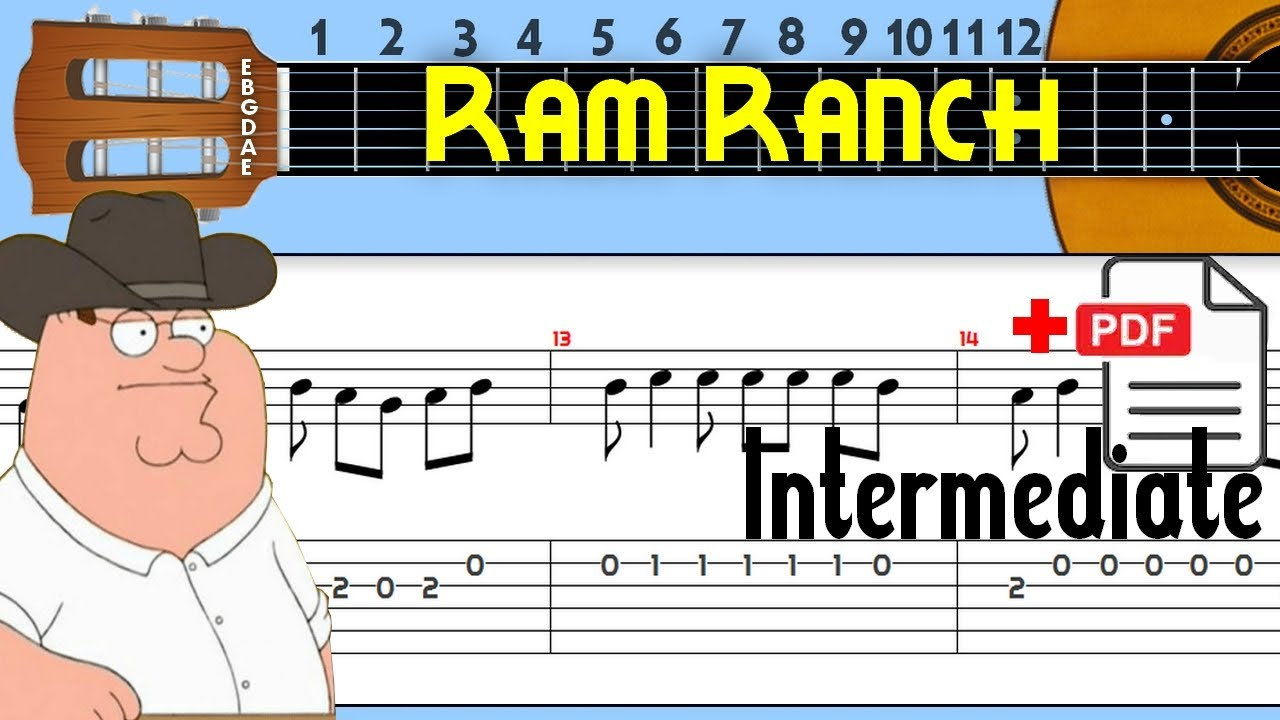 The Easiest Guitar Tabs: Ram Ranch (Flying Through The Sky)
