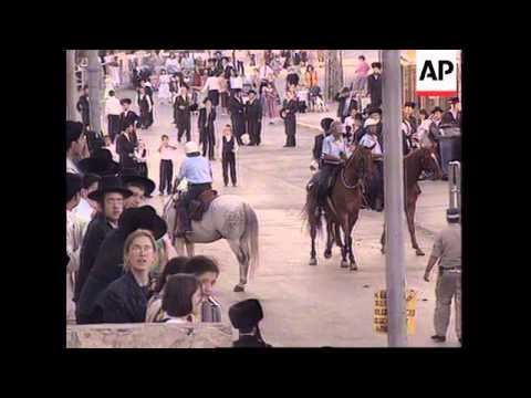ISRAEL: ORTHODOX JEWS DEMONSTRATE AGAINST SABBATH VIOLATORS