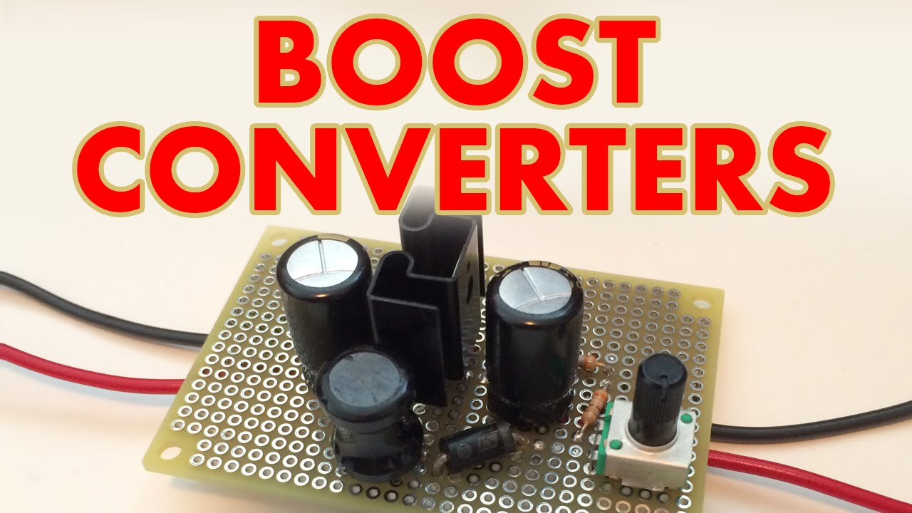 Dc Boost Converter Tutorial Youtube 5v 3a Stepdown Switching Voltage Regulator Schematic With Lm2576t5v
