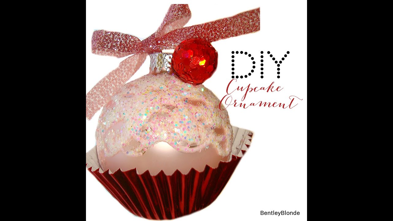 How To Make Christmas Decorations Youtube: DIY Christmas Cupcake Ornaments!