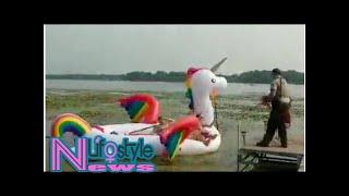 Sheriff deputies rescue group stranded on rainbow unicorn raft
