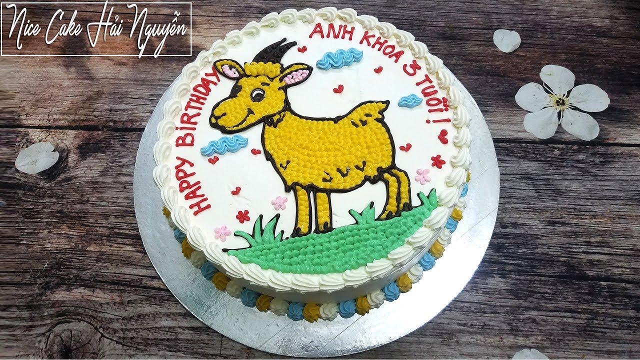 Các Vẽ Hình và Trang Trí Bánh Sinh Nhật Cho Bé Tuổi Dê – Draw Goat on Cake
