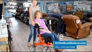 Drive Medical Nitro Duet Rollator and Transport Chair Demo