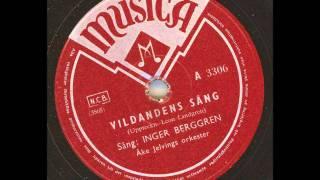 Sång: Inger Berggren Åke Jelvings orkester - Vildandens sång