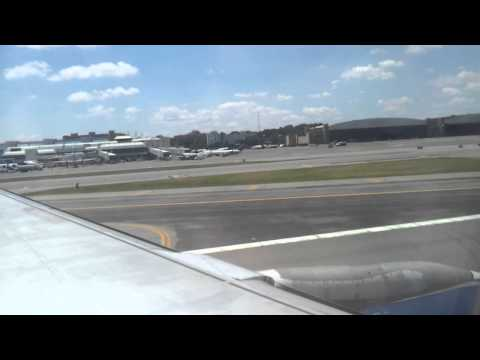 LGA Runway 31 Takeoff Over The Bronx and Manhattan