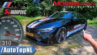620HP BMW M4 MOSSELMAN TURBO AKRAPOVIC 310km/h REVIEW POV on AUTOBAHN & ROAD by AutoTopNL