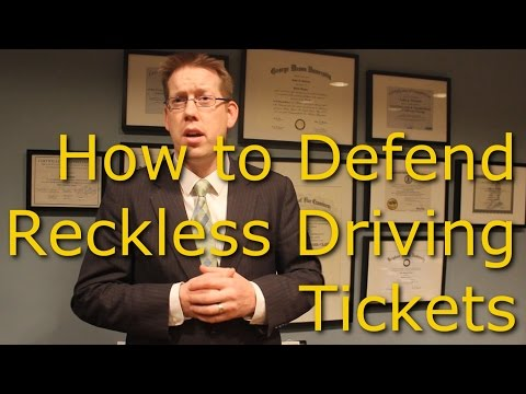 Reckless Driving Defenses - Virginia Reckless Driving Lawyer