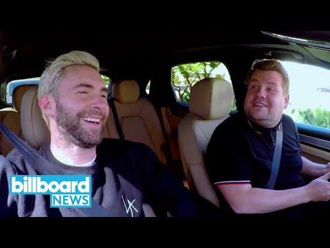 Adam Levine & James Corden Get Pulled Over by Cop in 'Carpool Karaoke' P  Billboard