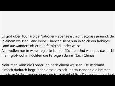 AfD + come back des weißen Mannes -Text-Probe