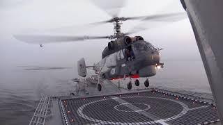 Посадки вертолетов Ка-27 на палубы кораблей Балтийского флота