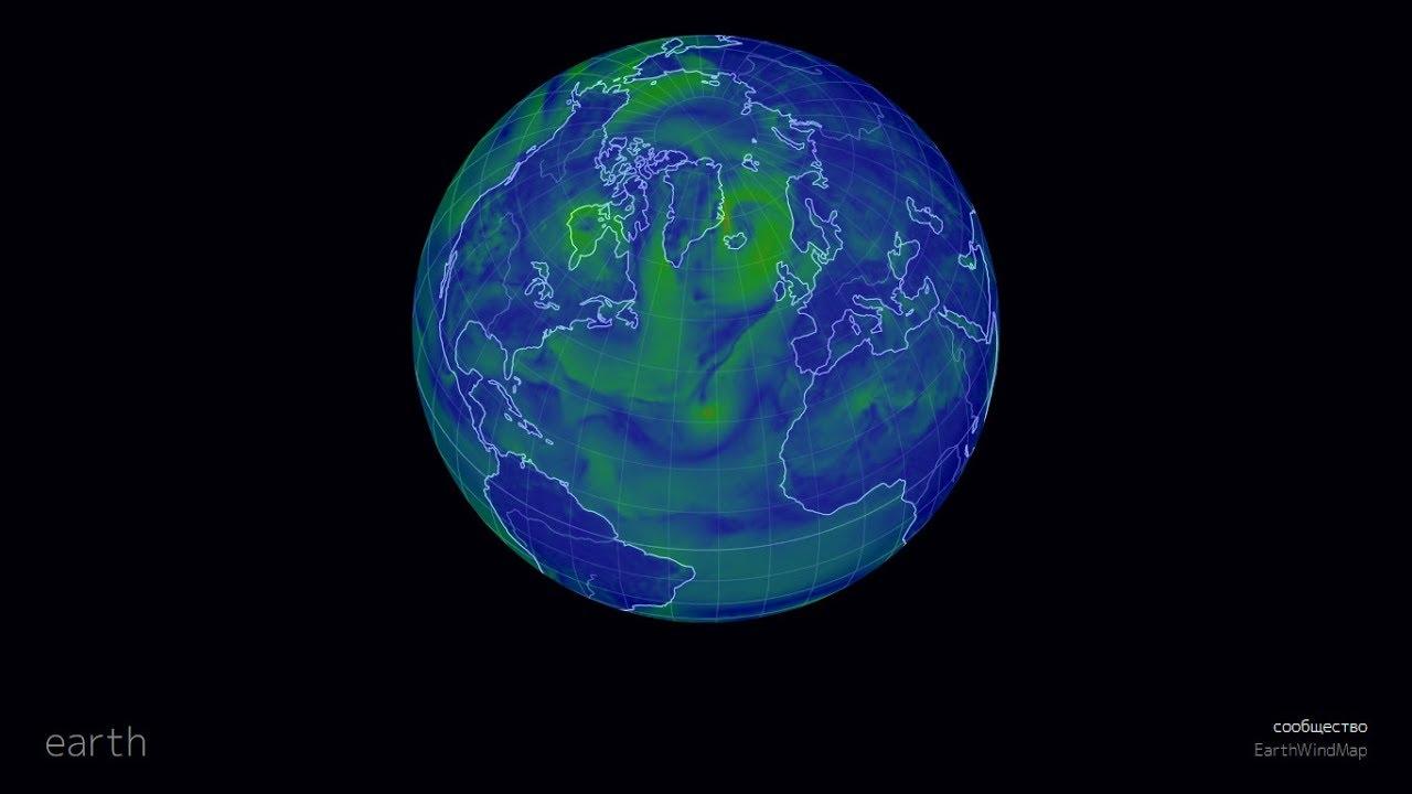 Earth A Global Map Of Wind Youtube