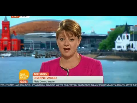 Leanne Wood discussing refugee crisis on Good Morning Britian