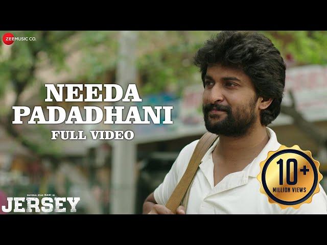Needa Padadhani - Full Video | Jersey | Nani, Shraddha Srinath | Anirudh Ravichander | Darshan Raval