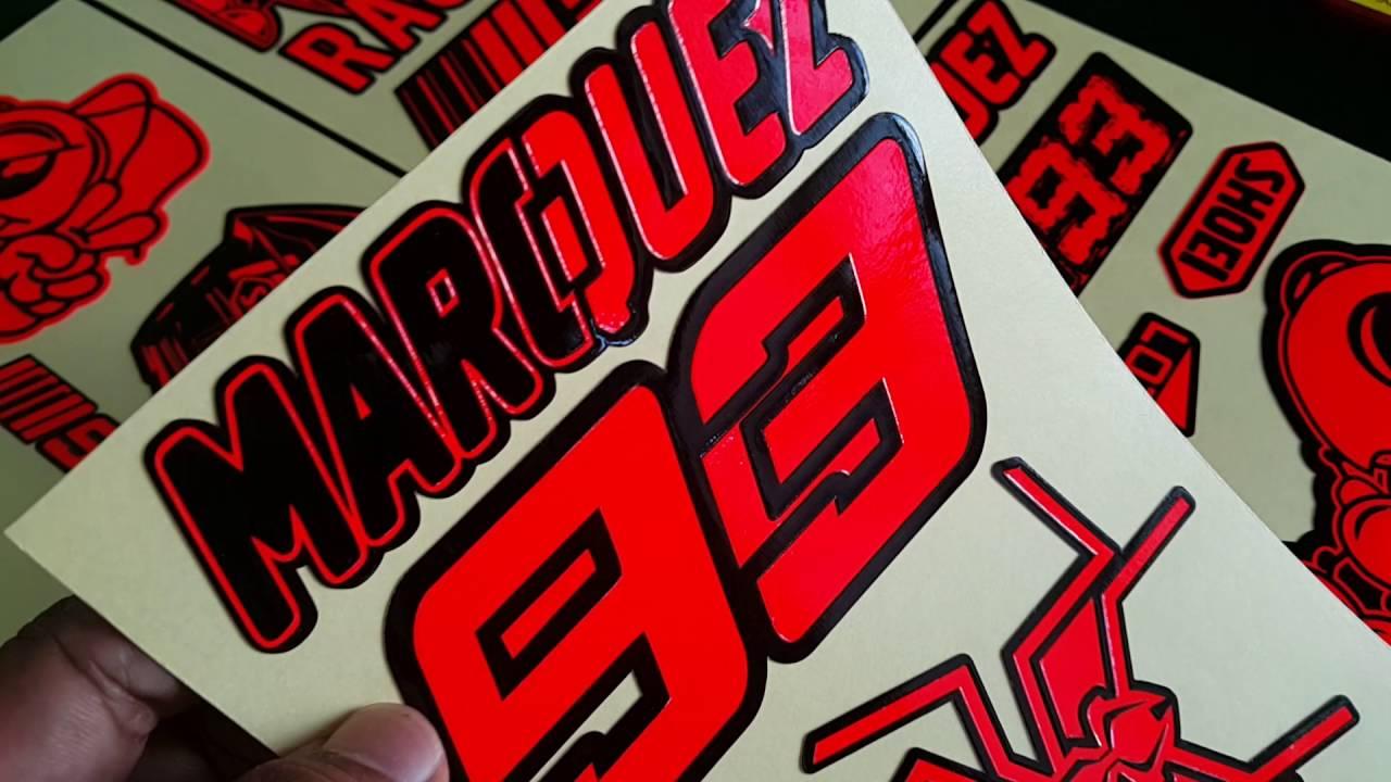 Sticker tekstur stabilo marc marquez