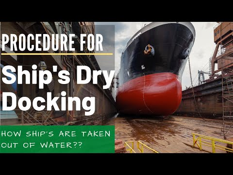 Dry Docking a Ship #drydocking #shiprepair #maritime