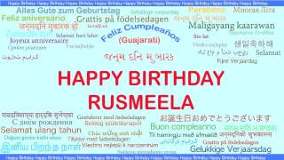 Rusmeela   Languages Idiomas - Happy Birthday