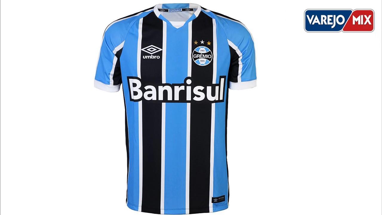 793fe0522c Varejo Mix - Camisa Umbro Oficial Grêmio I 2016 - YouTube