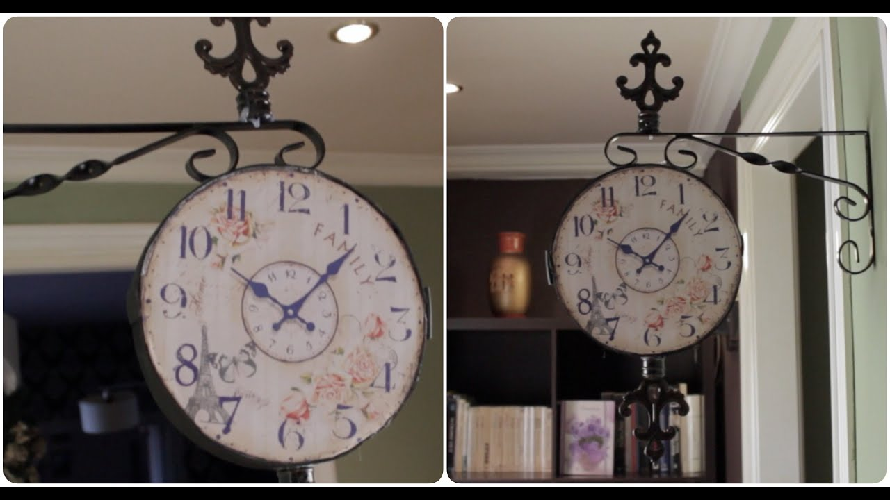 Diy reloj vintage para la pared youtube - Reloj pintado en la pared ...