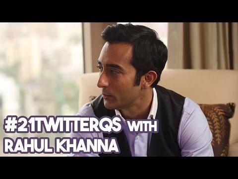 #21TwitterQs with Rahul Khanna!