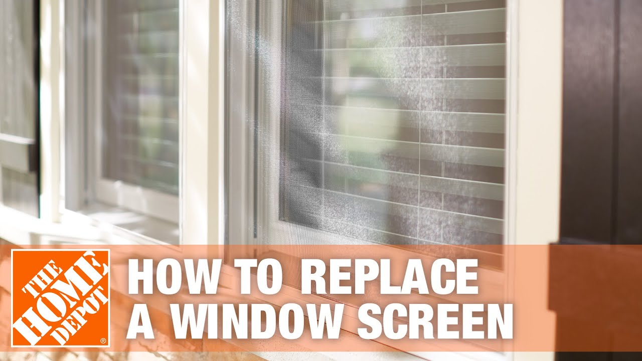 Phifer How To Replace A Window Screen The Home Depot You