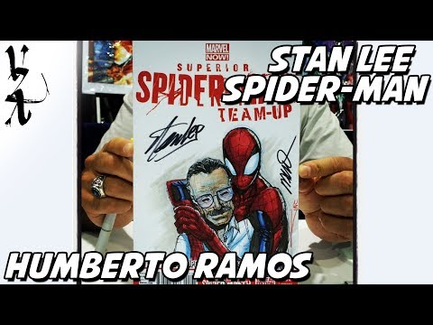 Stan Lee and Spider-Man drawn by Humberto Ramos #ArtRush