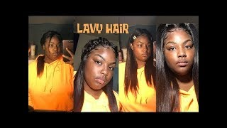 Different hairstyles on straight lace front wig -Back to school Edition Ft. lavy hair