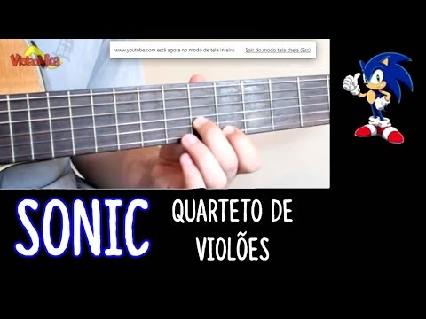 Sonic - For four guitars - Guitar tab video
