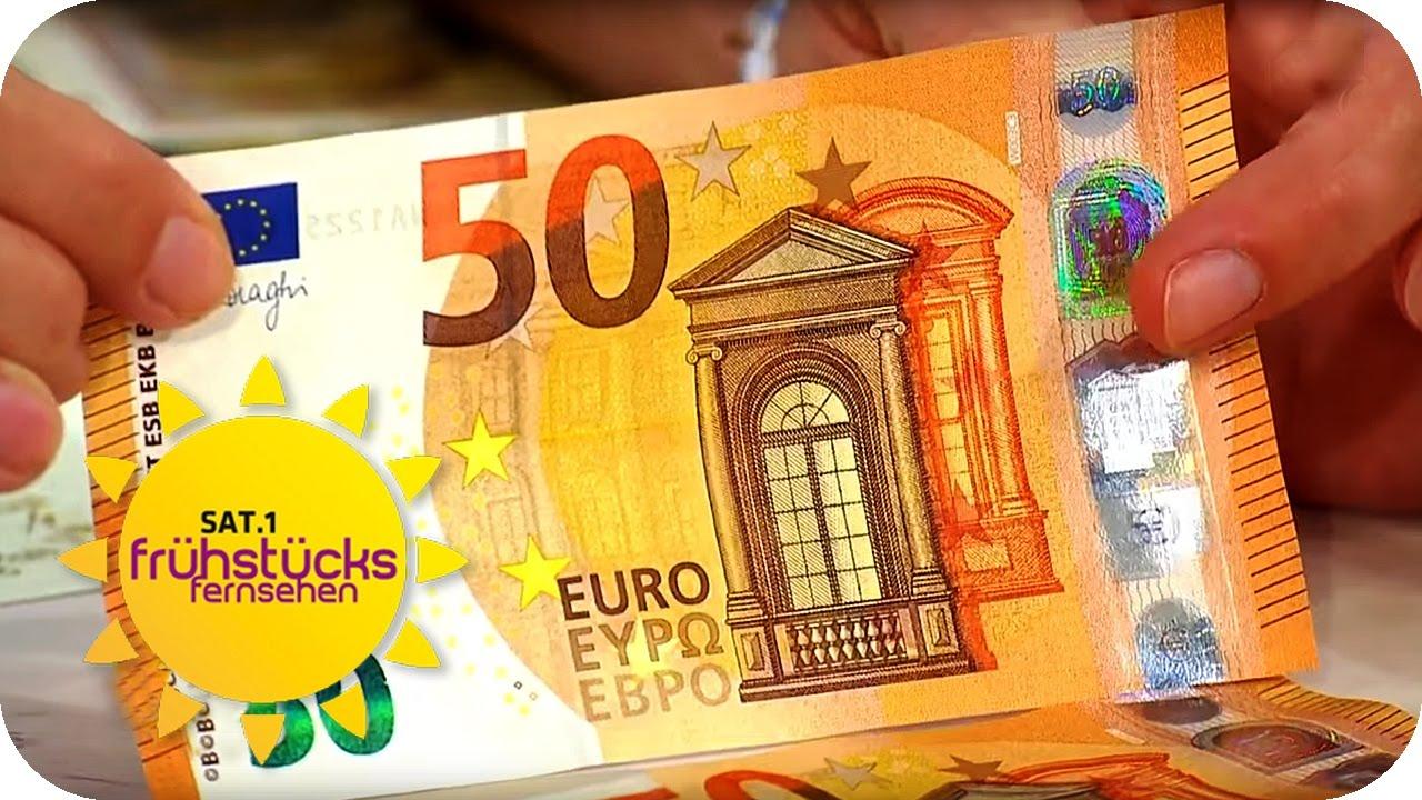 Fälschung Erkennen So Sicher Ist Der Neue 50 Euro Schein Sat1