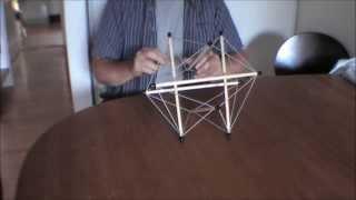 Tensegrity model 1  Demo af samling af struktur med 6 pinde