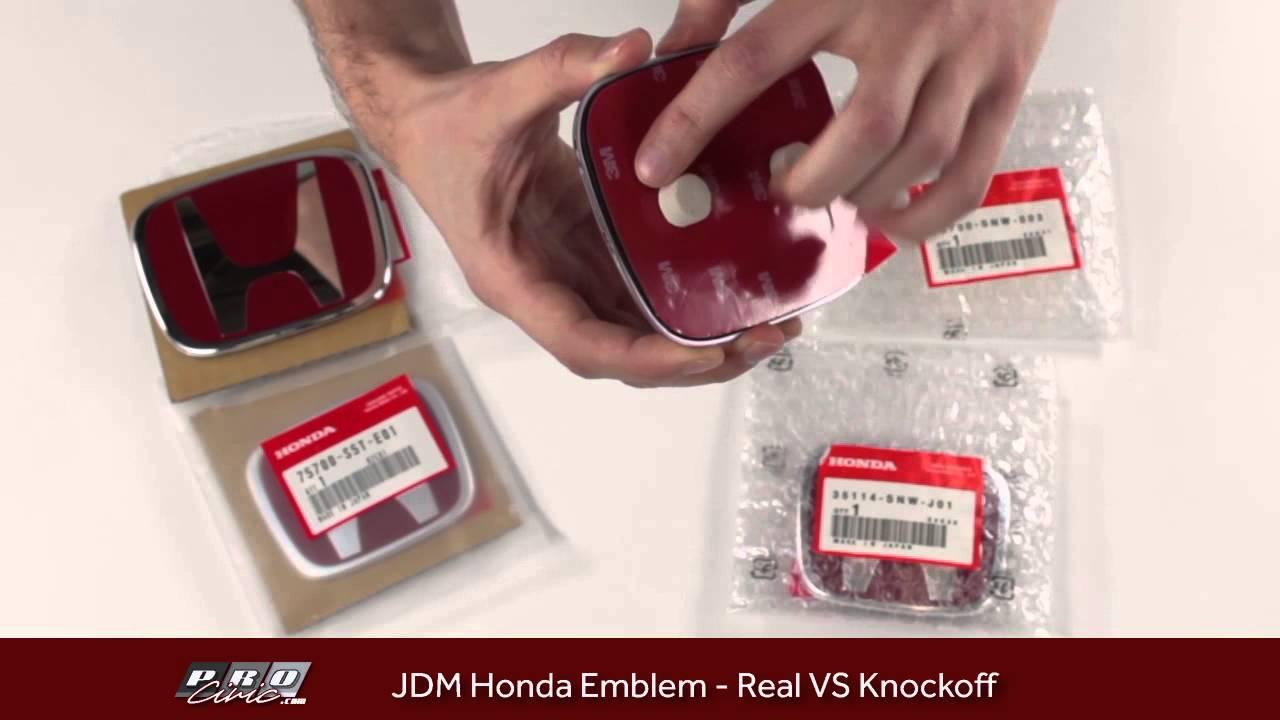 Real Vs Fake Knockoff Jdm Honda Emblem Comparision Youtube 2001 Crv Parts Oem Premium