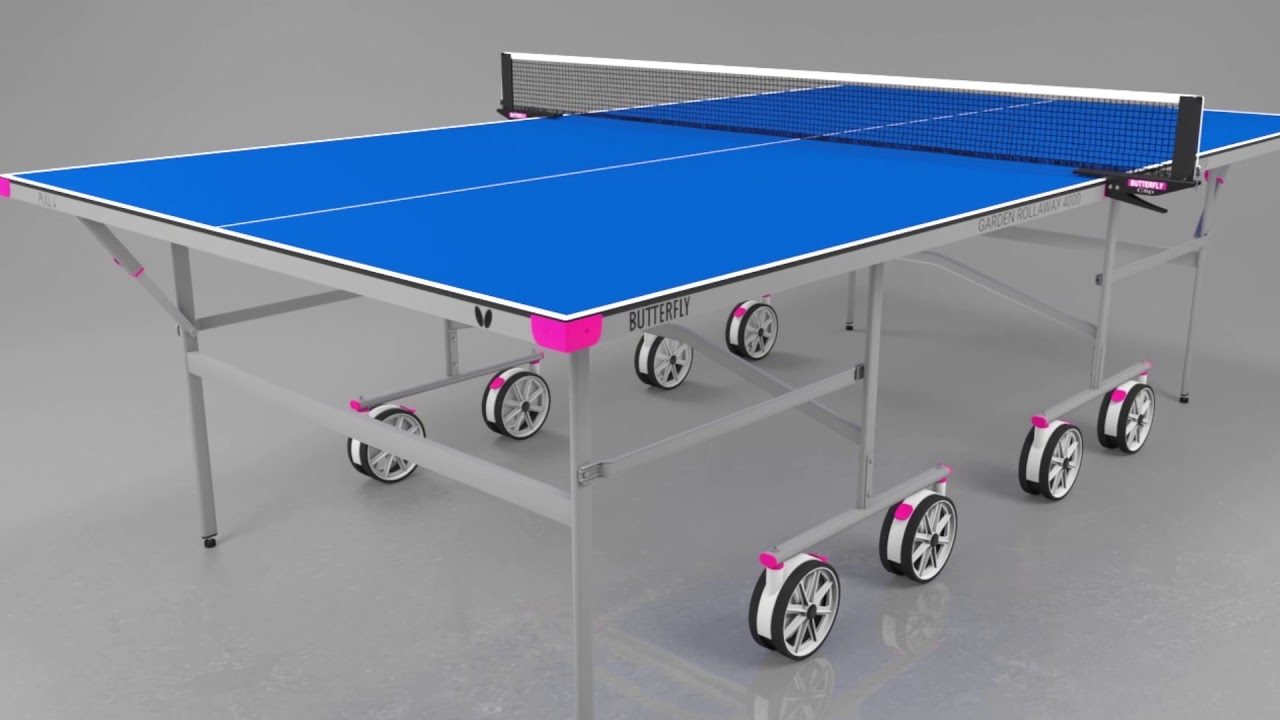 Butterfly Garden Rollaway 6 Outdoor Table Tennis Table