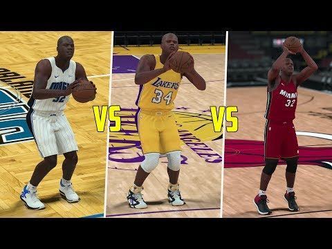 Which Shaquille O'Neal Can Hit A Three Point Shot First? Magic, Lakers, or Heat? NBA 2K18 Challenge!