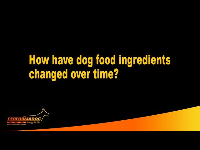 How have dog food ingredients changed over time? - Performadog