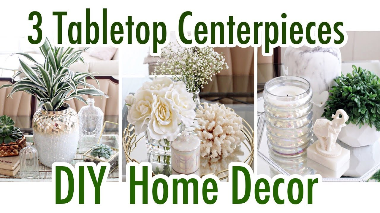 3 Tabletop Centerpiece Ideas Diy Home