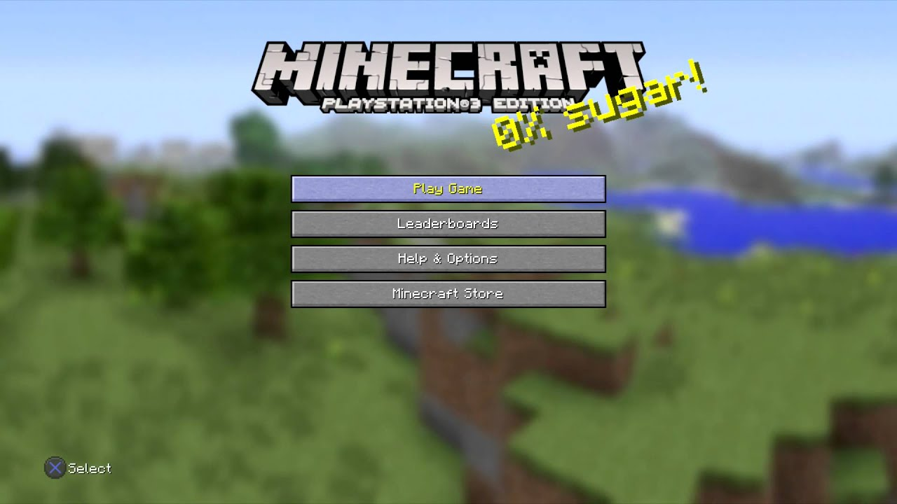 Minecraft Playstation 3 Edition Title Screen Ps3