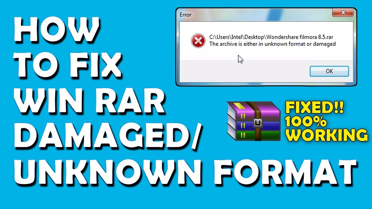 How to fix Win-RAR corrupt files | Unknown format or damaged | All About  Tech