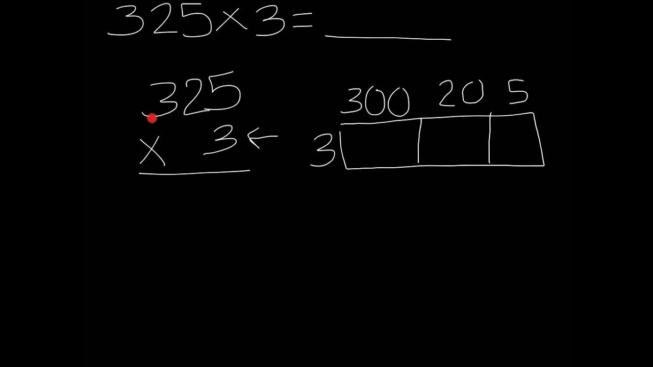 area model 3 digit by 1 digit mult - YouTube [ 720 x 1280 Pixel ]