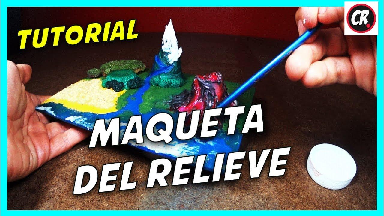 Cómo Hacer Maqueta Del Relieve Y Ecosistemas Proyecto Escolar En Porcelana Fría Plastilina Youtube