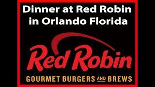 Dinner at Red Robin in Orlando Florida | JKMCraveTV